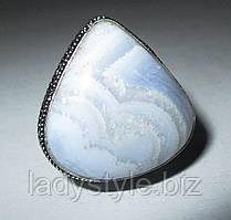 Шикарний перстень з агатом-сапфирином, розмір 17,9 від студії LadyStyle.Biz