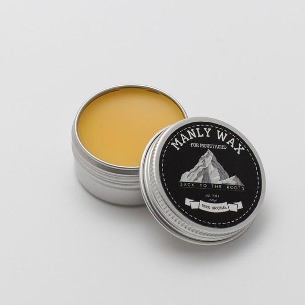 Manly Wax Воск для усов (желтый), какао-корица, 15 мл