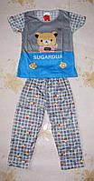 Детская пижама с мишкой на 5-6 лет