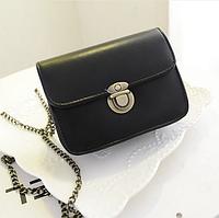 Наплечная сумка черная женская