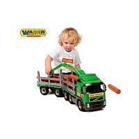 """Volvo"""", автомобиль-лесовоз с прицепом Wader 8725"""