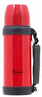 Вакуумный термос Con Brio CB-328 0.6 л красный с ручкой