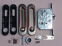 Ручки купе с межкомнатным замком SIBA  - S223 - матовый хром