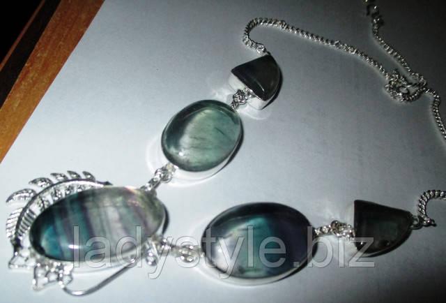 купить серебро браслет с флюоритом оберег ручная работа натуральный камни