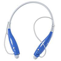 Bluetooth гарнитура HBS730 синяя для спорта телефонов планшетов смартфонов на шею и прогулок с пробежками
