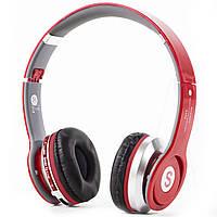 Bluetooth гарнитура S450 красная с microSD и блютуз спортивная для фитнеса связи телефона таблета планшета