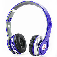 Bluetooth гарнитура S450 синяя с microSD и блютуз для таблета планшета samsung iphone спорта телефона mp3