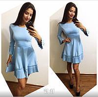 Женское модное турецкое платье с плиссировкой (2 цвета)