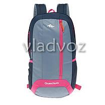 Городской, спортивный рюкзак Arpenaz 20L серый с розовым, фото 3