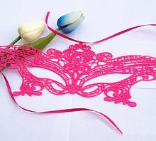 Маска из кружев женская розовая