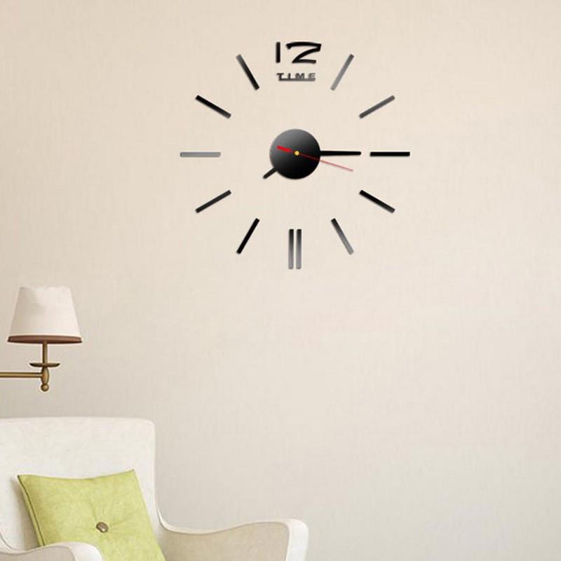 Настенные часы - стикеры Z-time черный