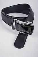 Ремень мужской с автоматической пряжкой №23P004 (Черный)
