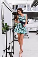 Платье женское мятное в сердечках НВ/-394
