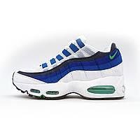 Бело синие мужские кроссовки женские кроссовки Найк аир макс 95 Nike air max 95 Бело Синие