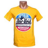 Мужская желтая футболка New York - №2229
