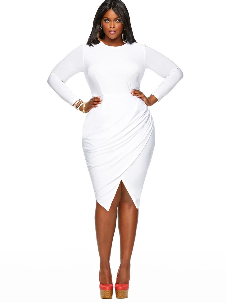 Мода для полных 2014. Коктейльное летнее платье большого размера