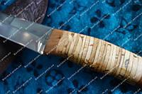 Нож для охоты и рыбалки ,рукоять береса ,отличный нож