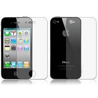 Защитная пленка 2 в 1 для Apple iPhone 4 4S глянцевая