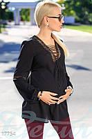 Свободная блуза беременной (Черный)
