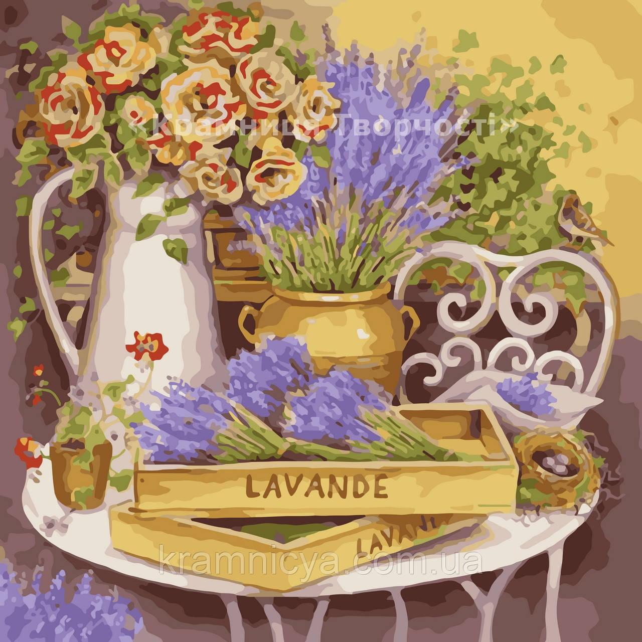 """Картина по номерам без коробки """"Цветы прованса"""", 40х40см (КНО2030)"""