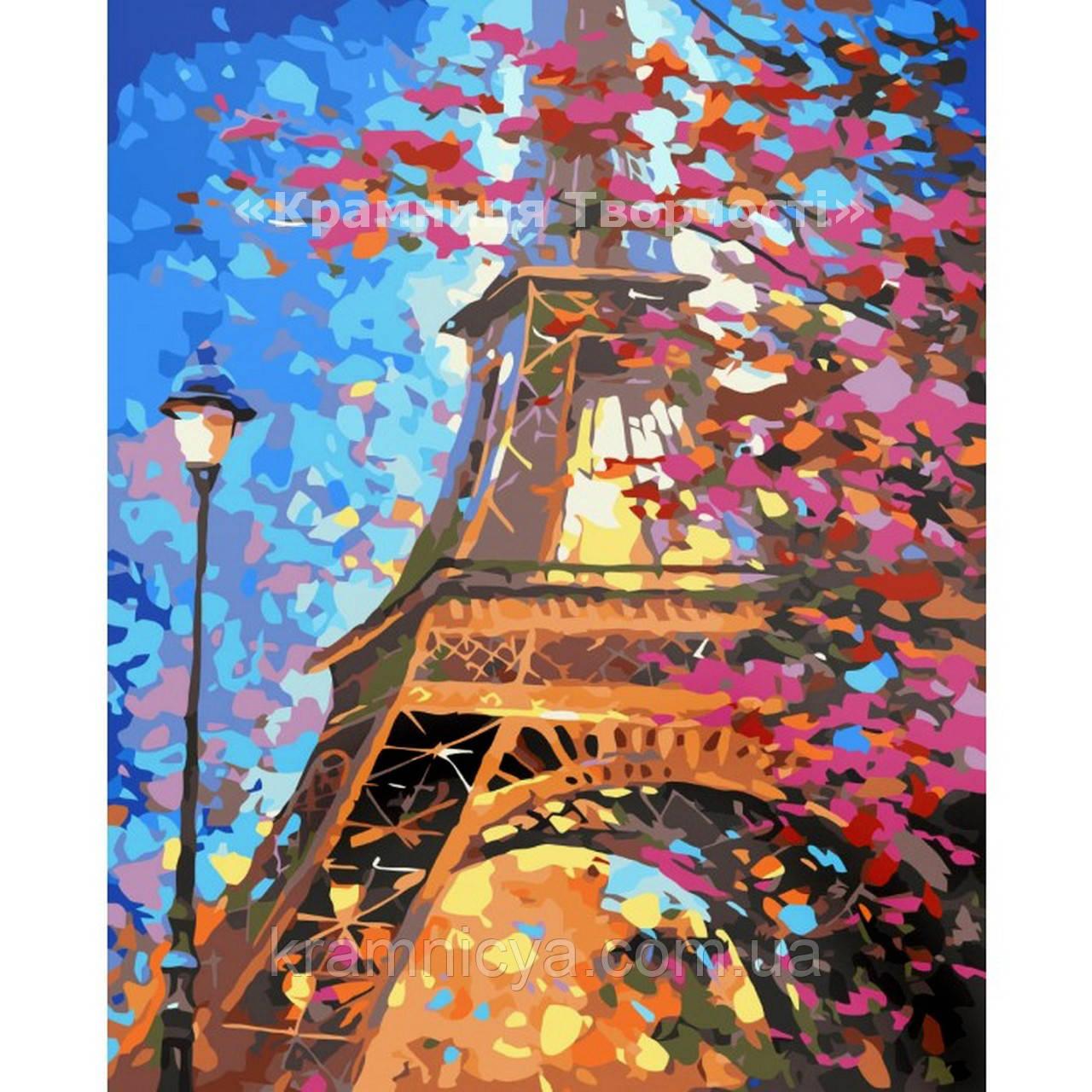 "Картина по номерам без коробки ""Краски Парижа"", 40х50см, (КНО2129)"