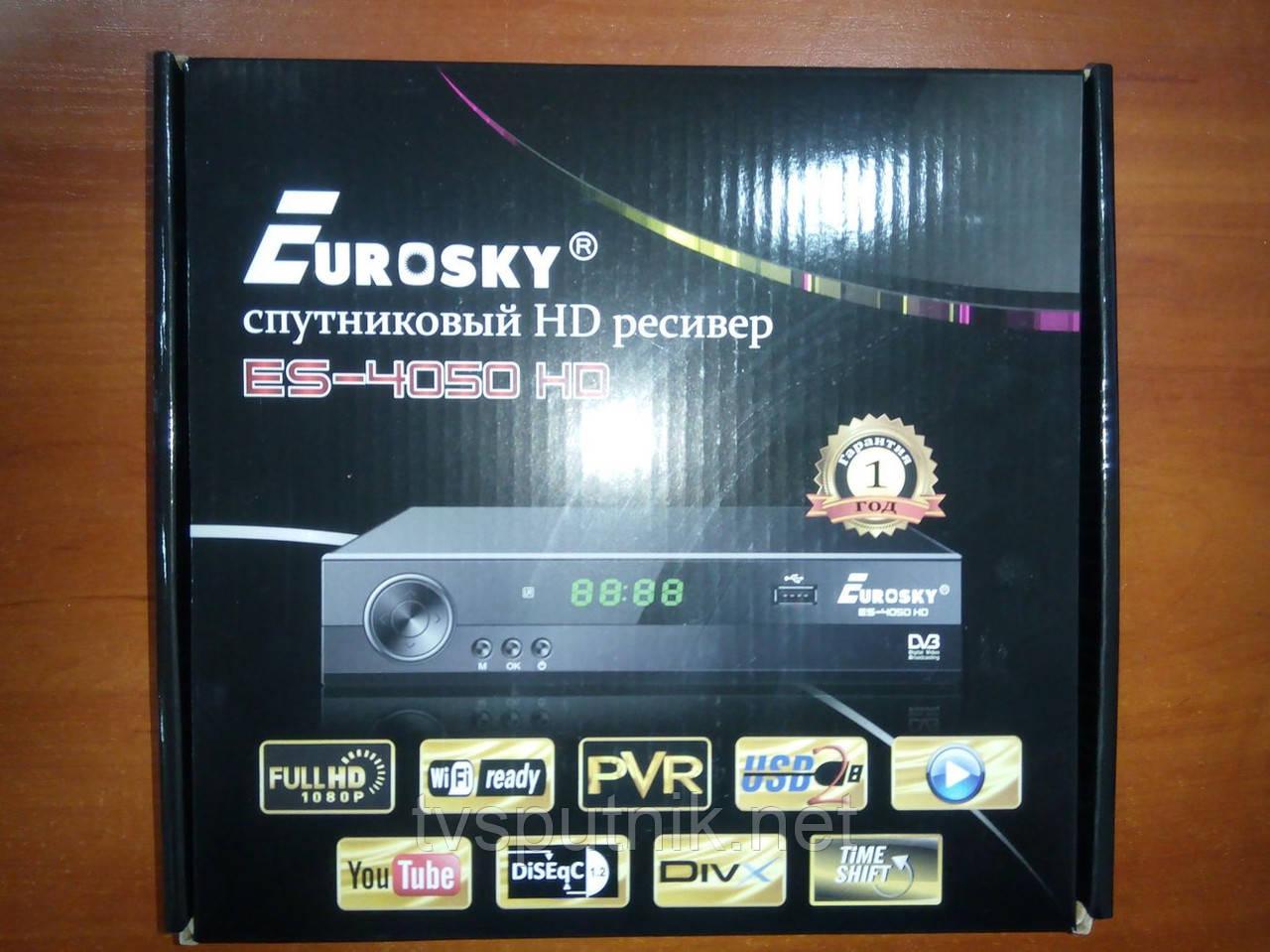 Спутниковый HD ресивер Eurosky ES-4050HD (прошитый с каналами)