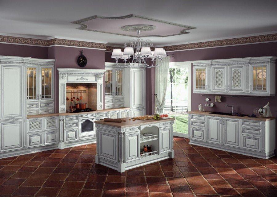 дизайн-проект кухни Фламиния сделан в программе 3Dmax.