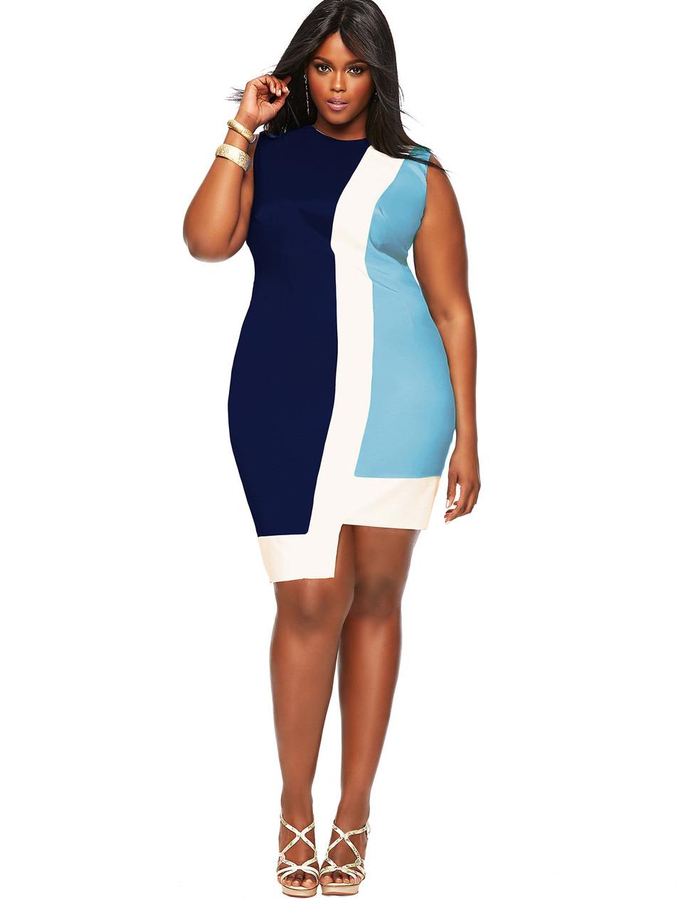 Мода для полных 2014. Оригинальное коктейльное платье