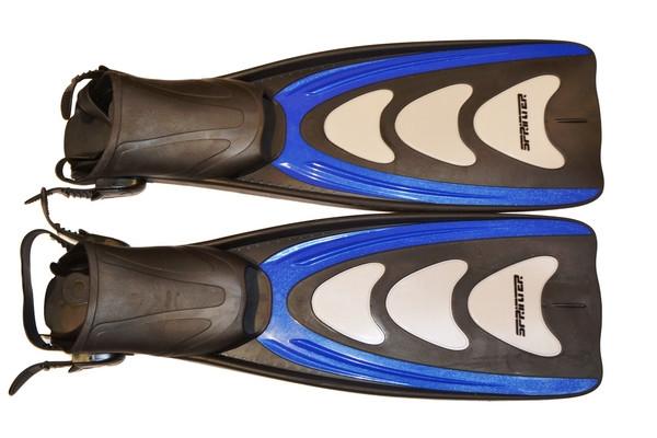 Ласты профессиональные ботинок на ремешке размер (40-43)
