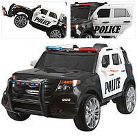 Детский электромобиль  джип Police  M 3259 EBLR-1-2, колеса EVA,кож сидение,MP3,USB,черный