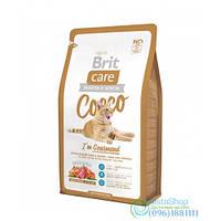 Сухой Корм Для Кошек С Чувствительным Пищеварением Brit Care Cocco С Уткой И Лососем 0,5 Кг