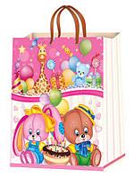 Детские подарочные пакеты размер 38х24см (12шт/уп.)Барабашово