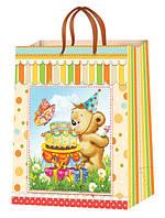 Подарочные пакеты для детей размер 38х24см ( 12шт./уп.)