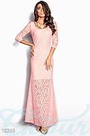 Вечернее кружевное платье (Розовый)
