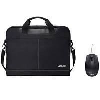 """Сумка для ноутбука ASUS Nereus 15.6"""" + Мышка Asus UT280 Black (90XB02M0-BAP000)"""