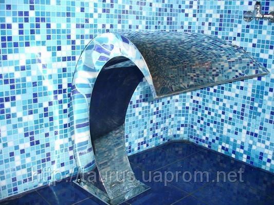 Водопад Cobra 700 мм  (массажер) из нержавеющей стали в бассейн