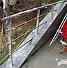 Перила из нержавеющей стали с профильной трубы (квадратной), фото 4