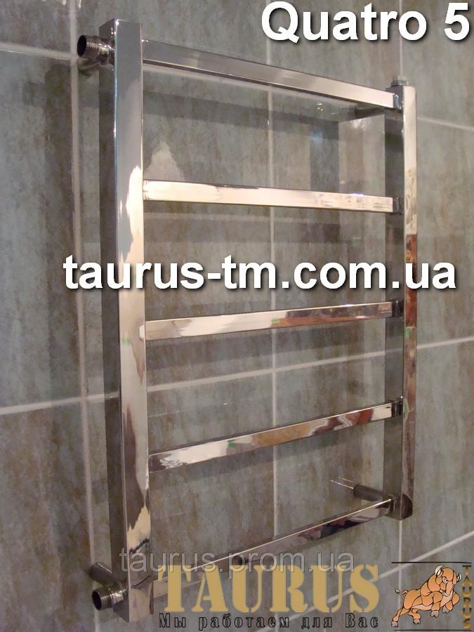 Полотенцесушитель Quatro 5/450 водяной и электрический, двухконтурный
