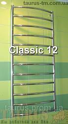 Полотенцесушитель высокий Classic 12/1250х500 из нержавеющей стали. Водяной, электро, комбинированный. TAURUS