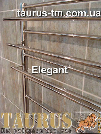Узкий и высокий полотенцесушитель Elegant 15 для ванной комнаты ширина 400 мм. Высота 1550мм
