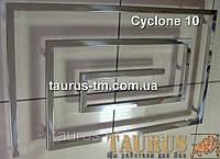 Громадный полотенцесушитель для большой ванной комнаты Cyclone 10/1300. Уникальный дизайн - змеевик