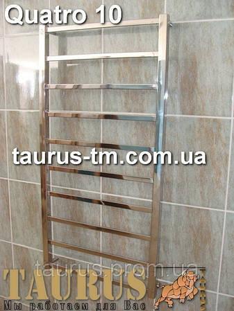 Комбинированный полотенцесушитель Quatro 10/450 высота 1050 из нержавеющей стали.
