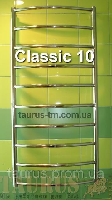Классическая большая полотенцесушилка лесенка н/ж в ванную комнату Classic 10 / 1050х500 мм.