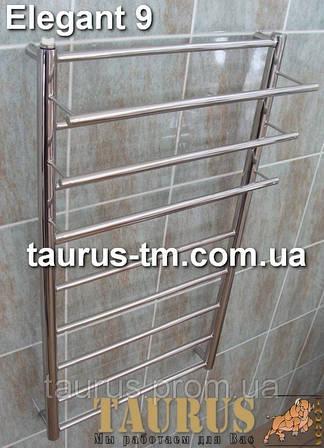 Полотенцесушитель Elegant 8 ширина 500 мм. от ТМ TAURUS в Украине. Нержавеющий, с полочкой для полотенец