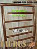 Большой фигурный полотенцесушитель Atlantica 11/1250х500 из н/ж стали в ванную комнату. Тупиковые перекладины, фото 2
