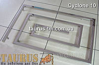 Большой дизайнерский полотенцесушитель Cyclone 10 / 1100мм из нержавеющей стали на 10 сегментов