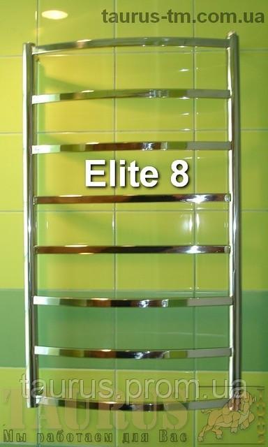 Классический н/ж полотенцесушитель Elite 8/ 850х400 мм из нержавеющей стали с прямоугольной трубой. 1/2