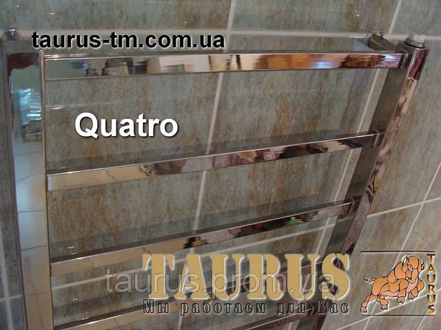 Электрополотенцесушитель, водяной и гибридный Quatro 11/1150х450 из нержавеющей стали. Плоская труба
