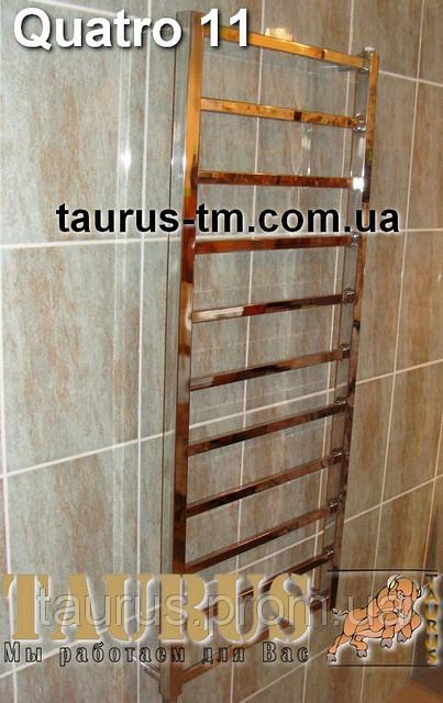 Стильный узкий полотенцесушитель Quatro 11/ 1150х400 для всех систем отопления (вода + тэн + комби)