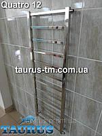 Узкий полотенцесушитель Quatro 12. 1250х400мм для общей и автономной системы отопления.